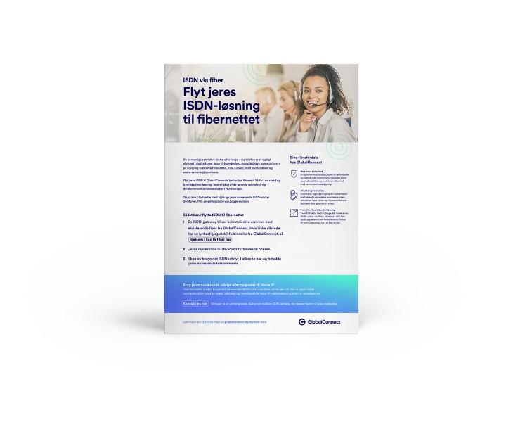 Flyt jeres ISDN-løsning til fibernettet med GlobalConnect